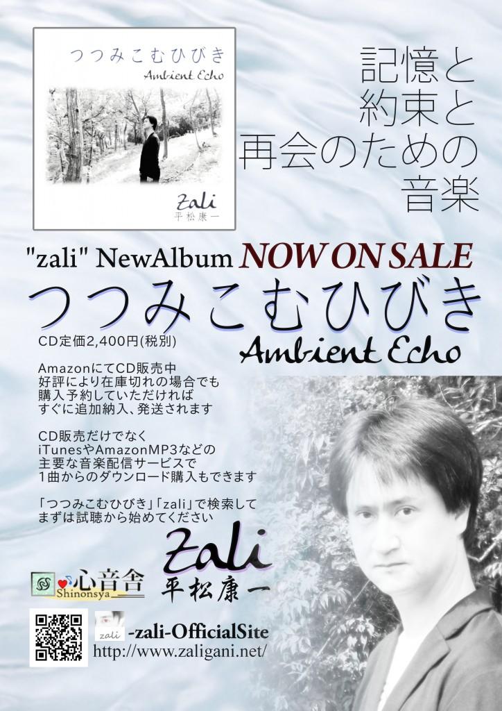 zali(平松康一)の新アルバム「つつみこむひびき」発売開始